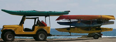 transporting kayaks